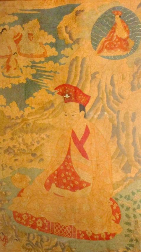 Antique Rare Tibetan Thangka On Silk
