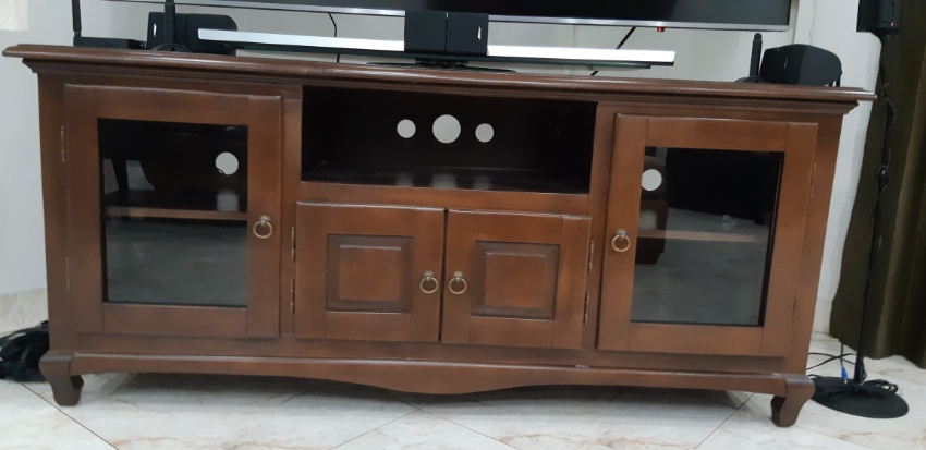 Wood TV stand and Coffee table