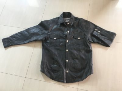 New leather motorcycled jacket, unworn, size XL.