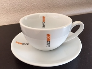 BONCAFE MILLENNIUM CAPPUCCINO. 6 Cups  and 5 saucers