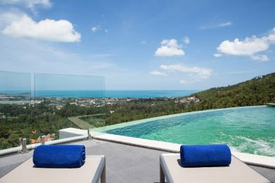 For sale new villa Chaweng Koh Samui 3 bedrooms pool jacuzzi sea view