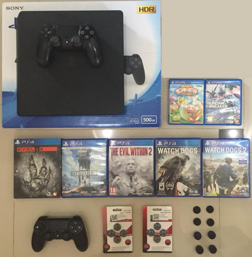 PS4 system and games. 2 vita games UPDATED PICTURE