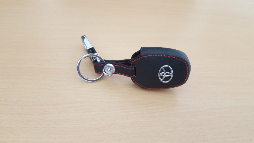 Black Leather Case for Key of Toyota Vios Year 13-17