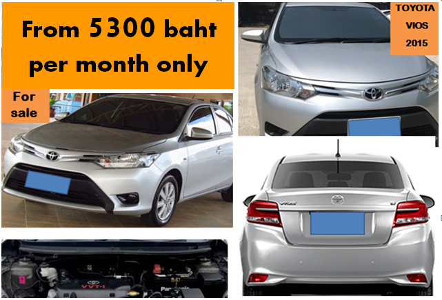 Toyota Vios 2015 for 5300 baht/month only
