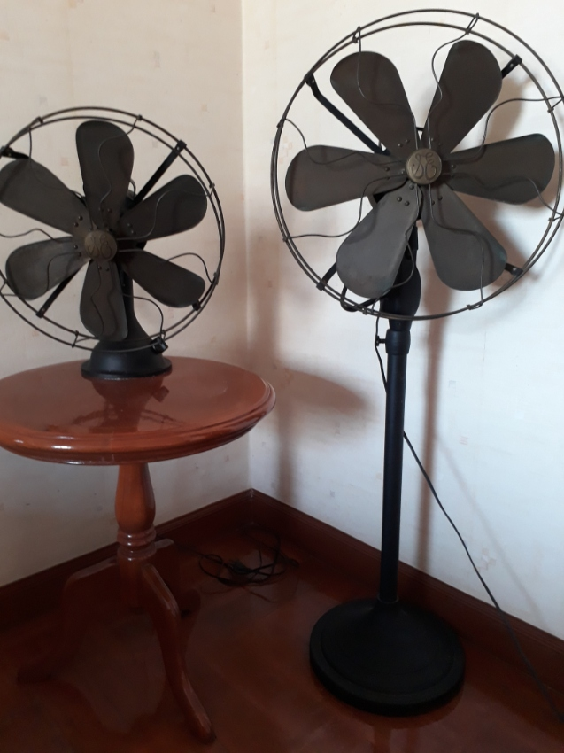 Retro Antique Brass Fans.