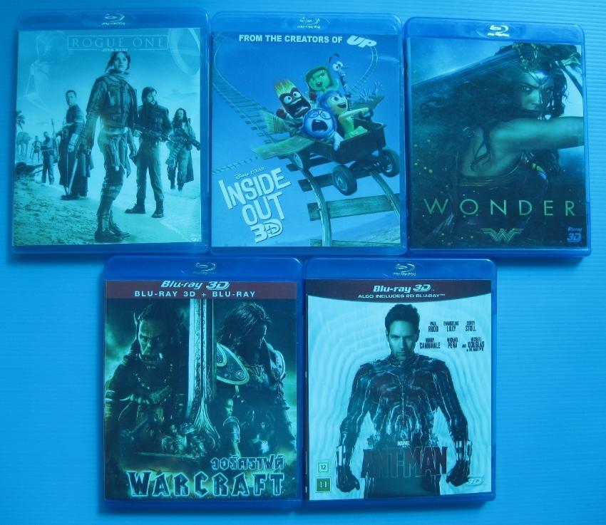 5 – NEW 3D Blu-ray Movie's <> 100% Original's