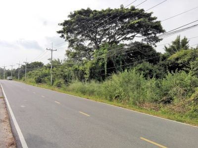 100 Meters Paved Road Frontage 6 Rai with Canal in Back of Land