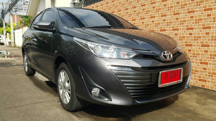 Toyota Yaris Ativ 2018 available at 499 Baht /day
