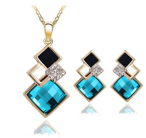 New Fashion womens Geometry square jewellery set