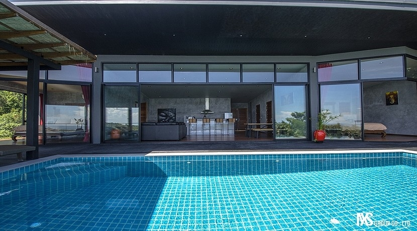 For sale Villa 3 bedrooms Chalok Ban Kao Koh Phangan sea view pool