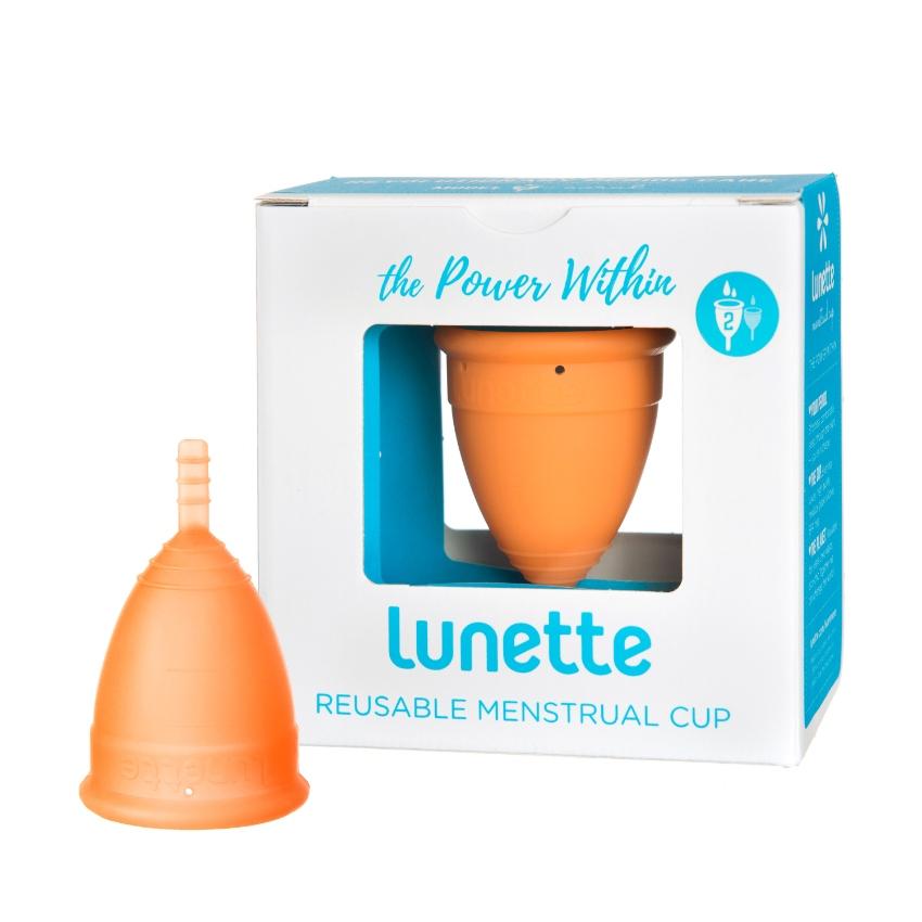 Lunette Menstrual Cup Orange Model 2 Made in FINLAND