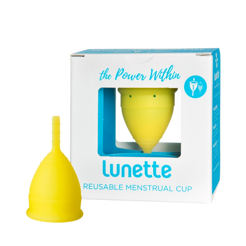 Lunette Menstrual Cup Yellow Model 1 Made in FINLAND