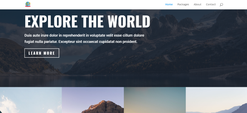 Tour and Travel Operator Web Design 10,000THB