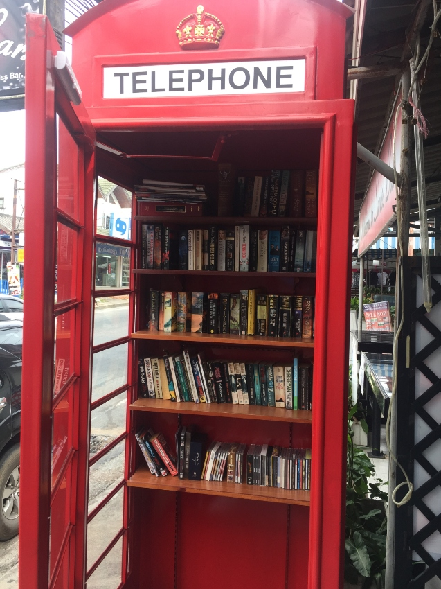 K2 1930 London telephone box adapted as library and other functions