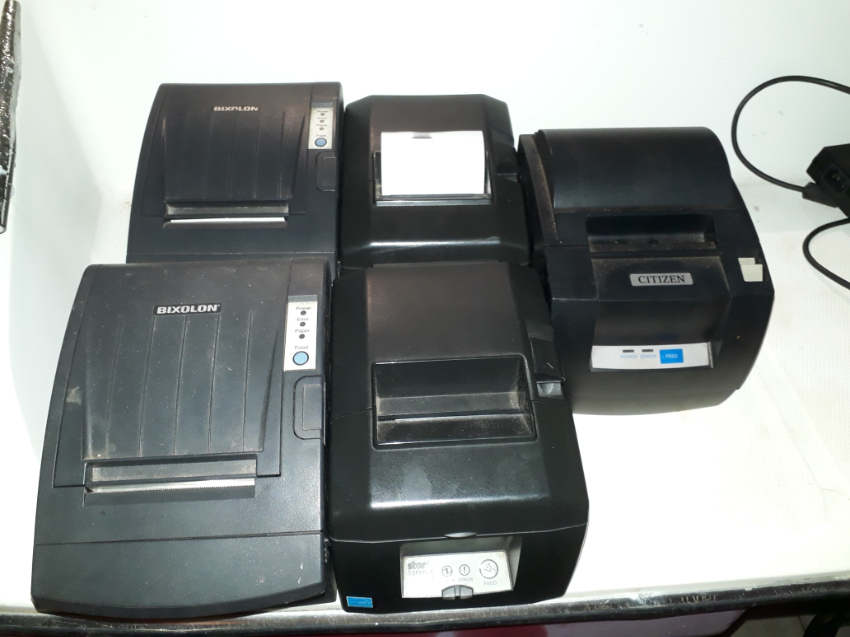 Used 5 x Theraml printers, 1 DOT Matrix