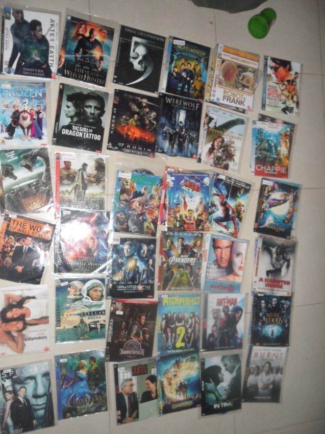 Movie collection on DVD.60 pcs.