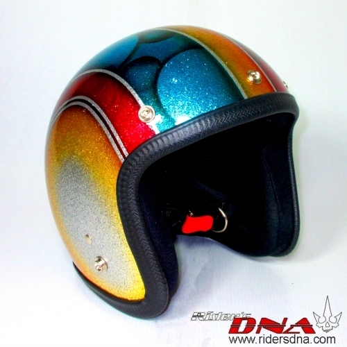 Open face Metal flake airbrush helmet