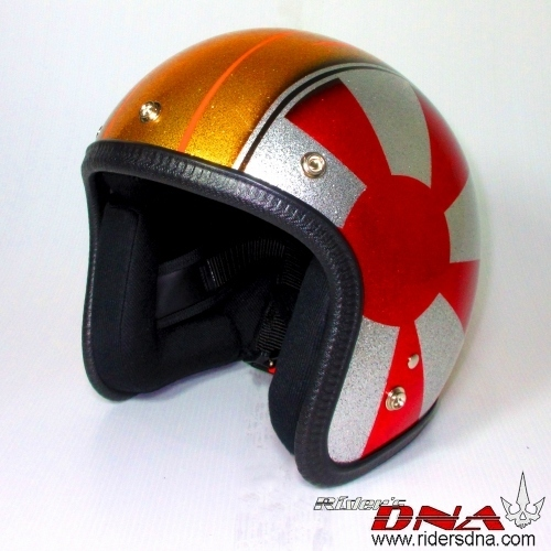 Airbrush 3/4 Jet helmet, the sunrise metal flake