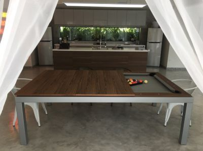 Dining table to Pool table in a finger snap - Fusion dining pool table