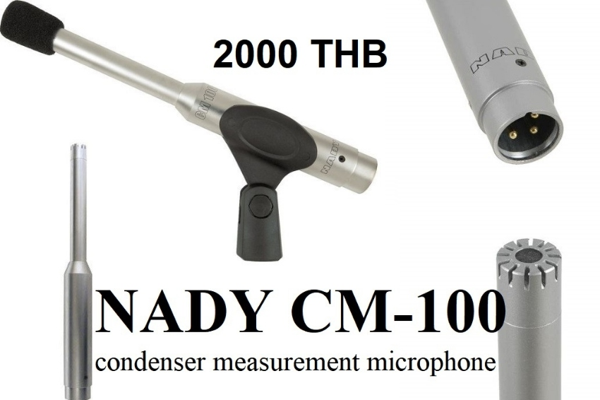 NADY CM-100 condenser measurement microphone. For many recording uses