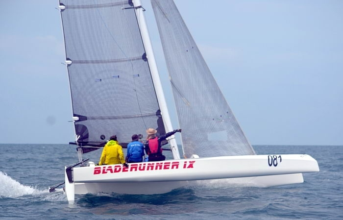 1/3 of Blade Runner IX - Diam 24 - Tour de France one design trimaran