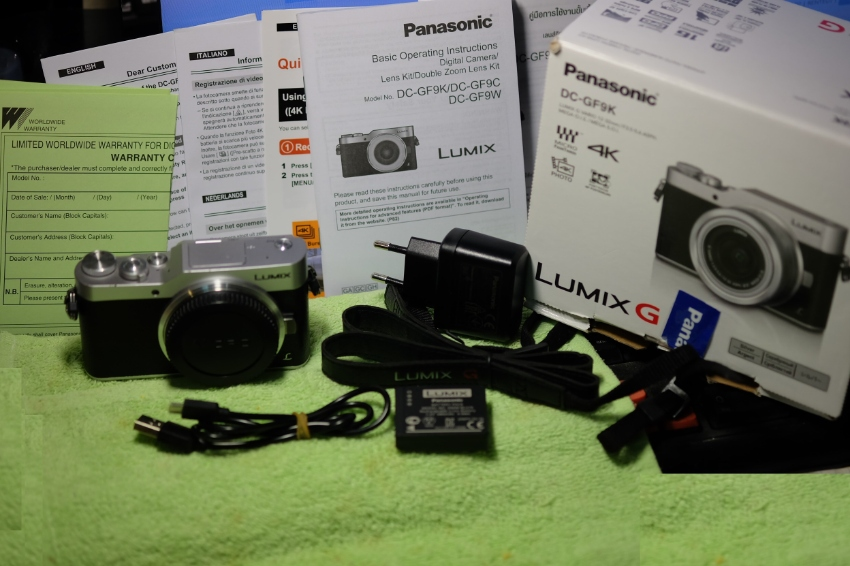 Panasonic Lumix GX800 (GX850, GF9)  Black/Silver body in box.
