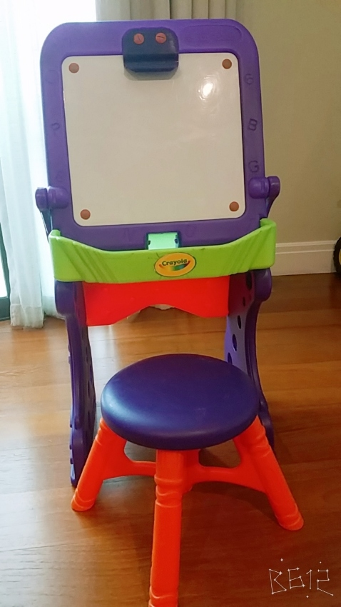 crayola white board/ desk with stool