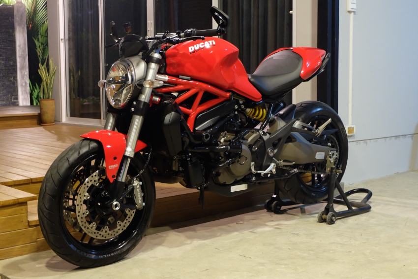 DUCATI MONSTER 821 2016 TERMIGNONI exhaust and OHLINS steering damper!