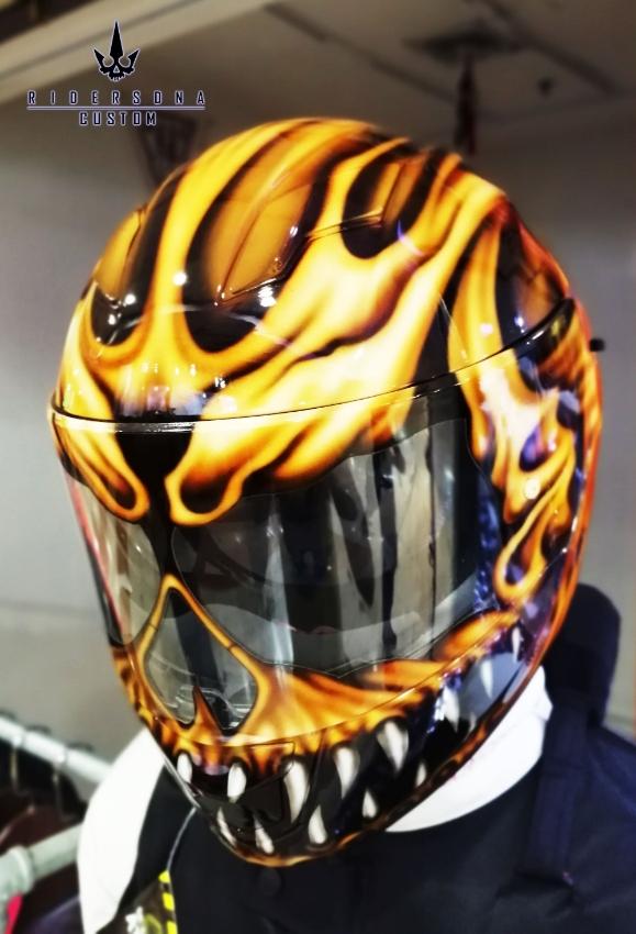 Seventh World Monster Full face hand painted airbrush E-CE helmet