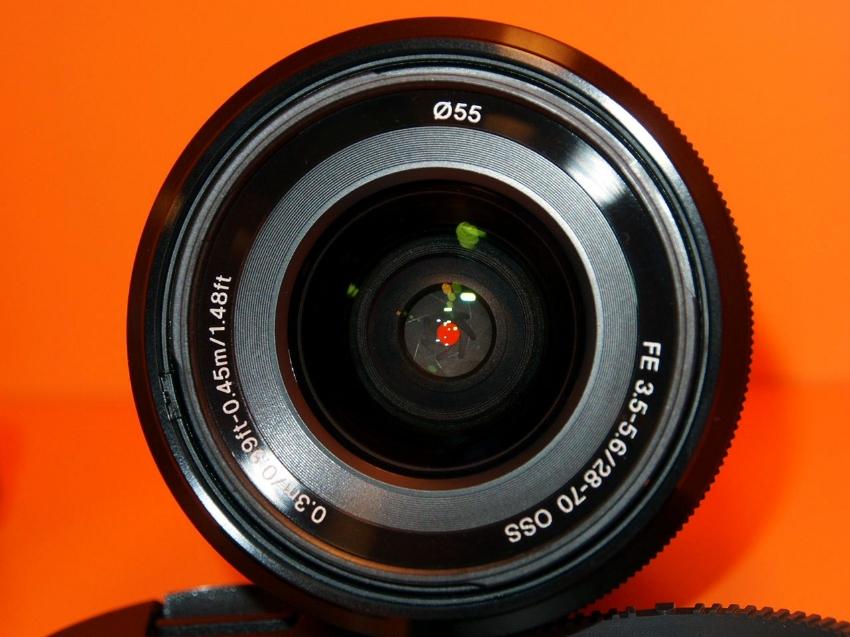 Two Sony FE lenses: 28-70mm f/3.5-5.6 OSS, 28mm f.2.0