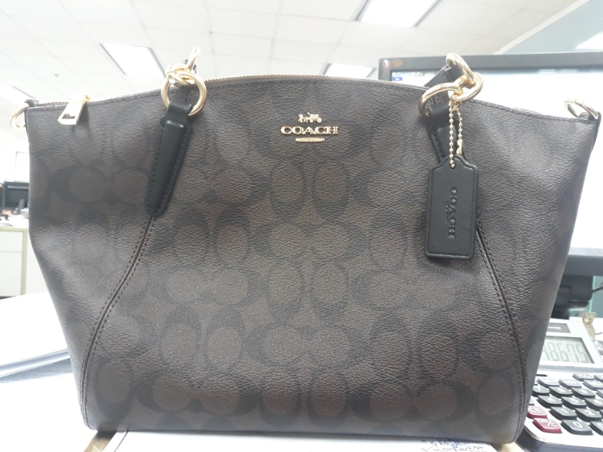Coach F28989 Small Kelsey Satchel In Signature Canvas (Imaa8 ... 6a3f3a2eb817b