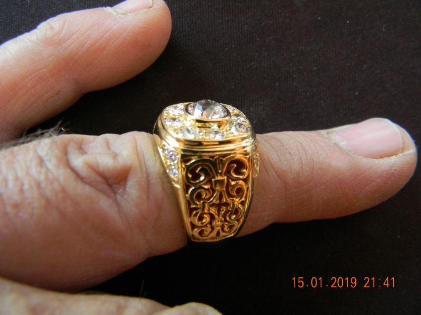 Gents gold diamond ring,one of a kind,