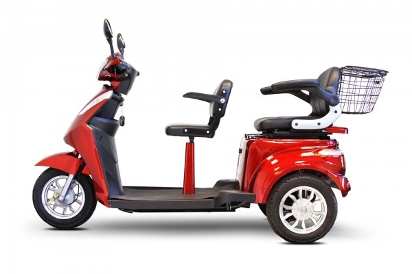 Electric Tricycle two Passenger Scooter, 3 wheels, 2 seats, 500 watt