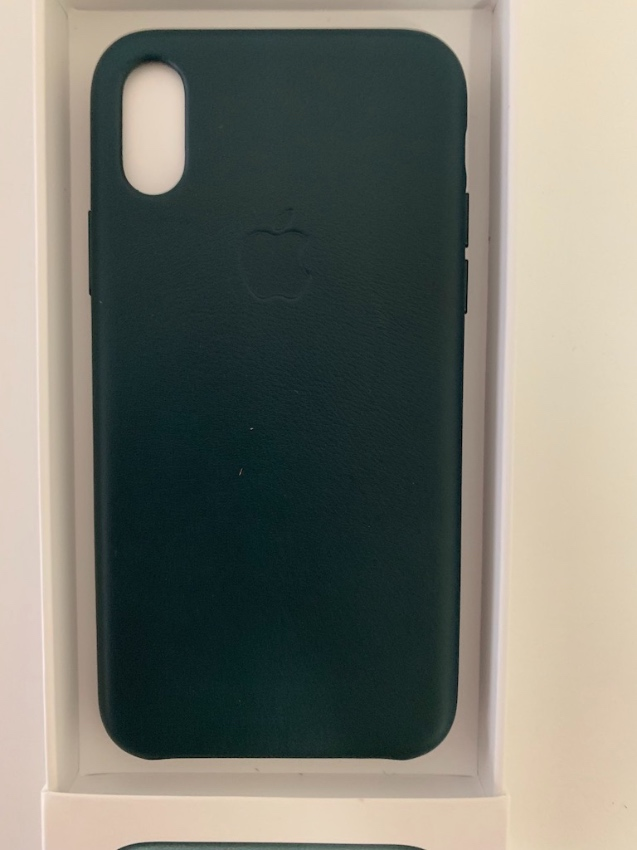 Apple iphone Xs Leather Case: Forest Green