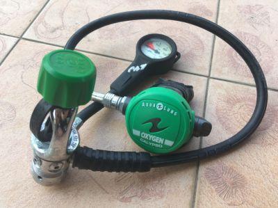 Aqualung Calypso Oxygen regulator with gauge