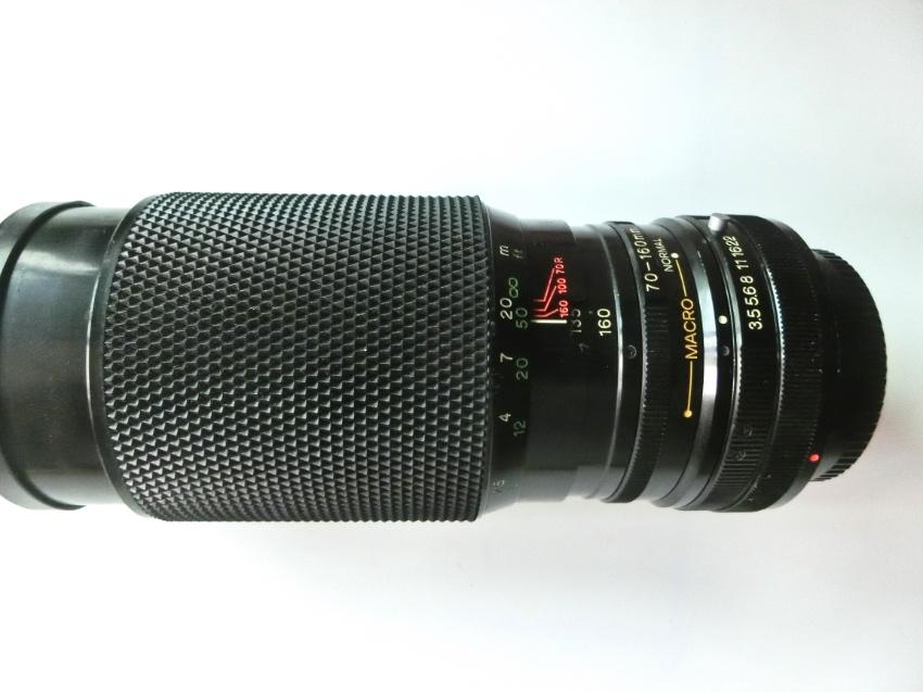 SOLIGOR 70-160MM F/3.5 C/D MACRO MANUAL FOCUS LENS (Canon FD fit)