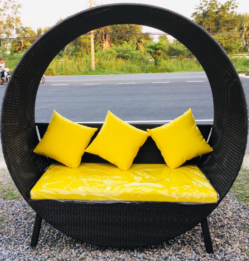Designer-Love Seat , Polyrattan, made to order,many colors available