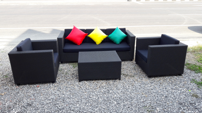 Garden Lounge Set, 1 Sofa, 2 sofa chairs , 1 table, new ,made to order