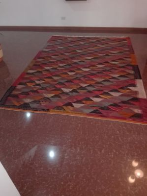 AUTHENTIC HANDWOVEN MOROCCAN TANGEEN PATTERN BERBER CARPET