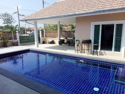 Cha-am Town Center 3 BR 4 Bath Furnished Pool Villa on Large Plot