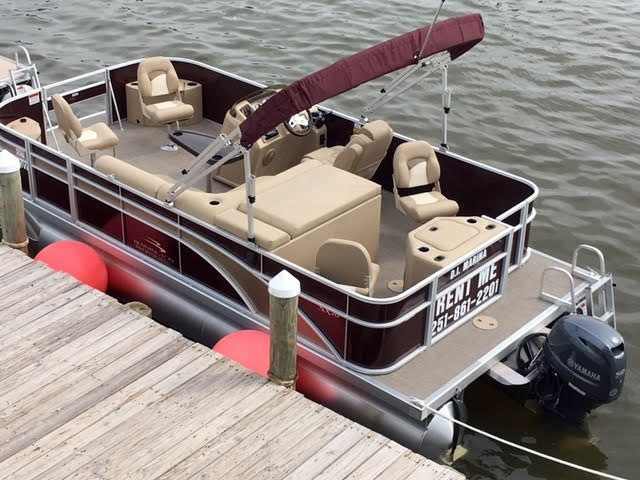 Tri-toon Aluminium pontoon boat for sale