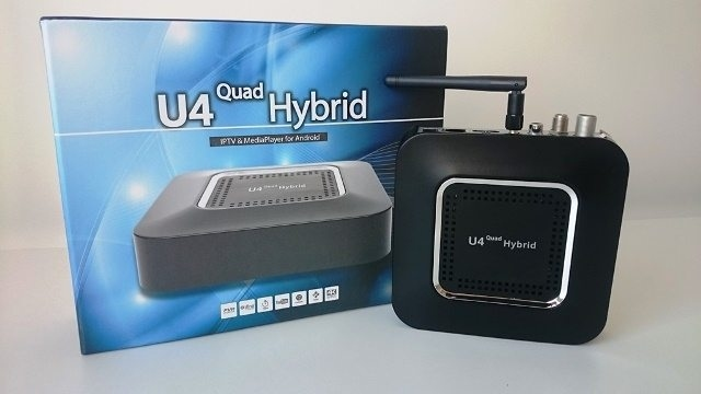 U4 Quad Hybrid TV IPTV Box with DVB-T2/T/C and DVB-S2