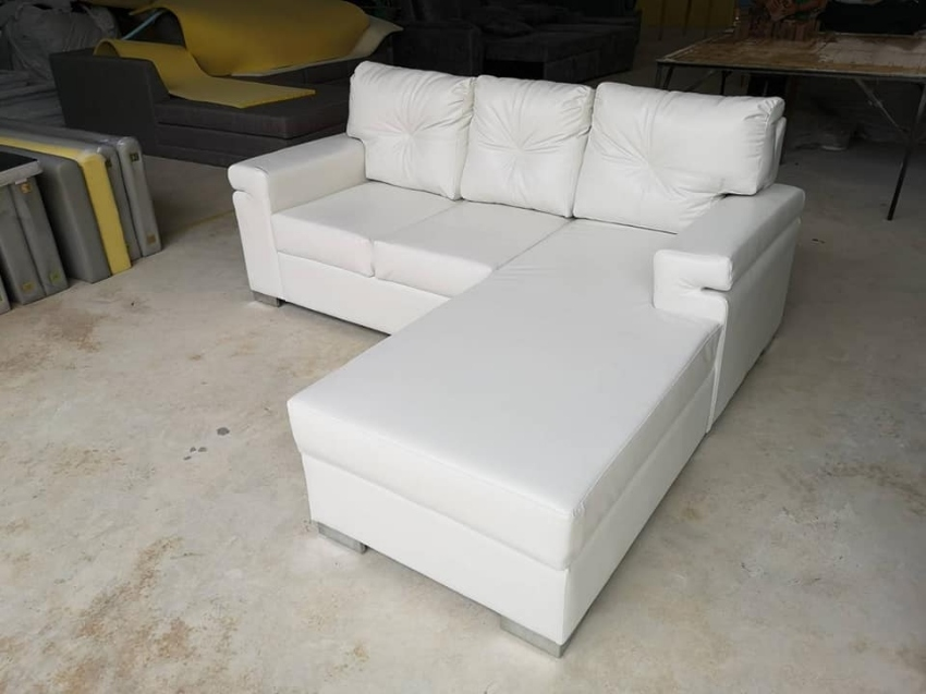 Faux leather Corner Sofa