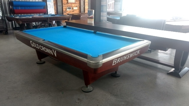 Cheap Pool Tables, Brunswick 2nd hand, Metro, Gold Crown