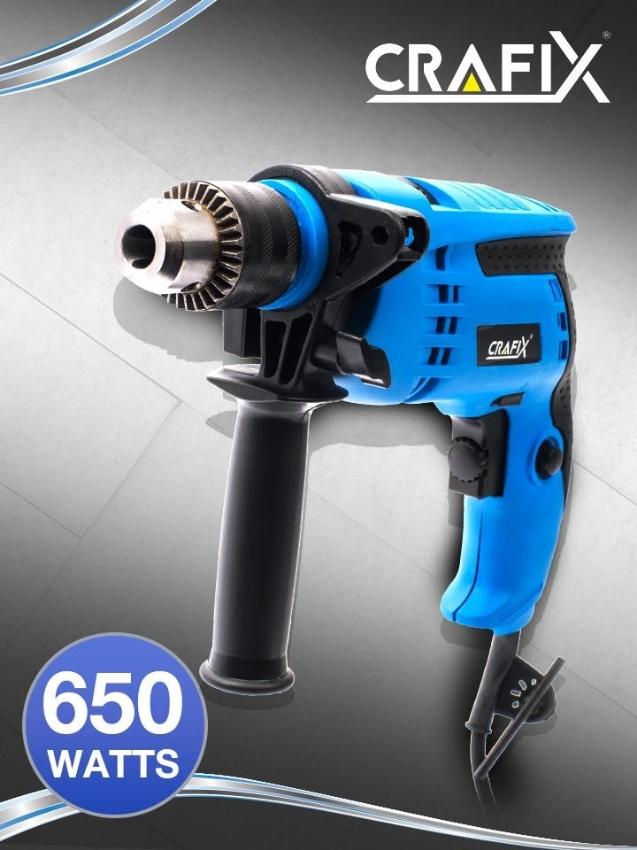 Electric Hammer Drill Free 16 pcs Drill Bit Set & Mini Vice