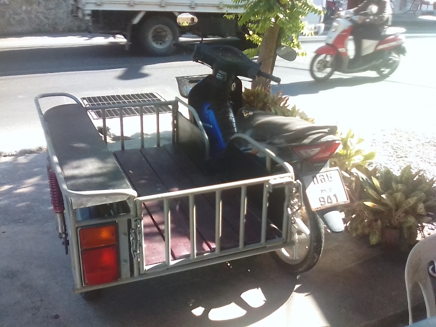 Motorbike with Side Car. Ready to start your own Business
