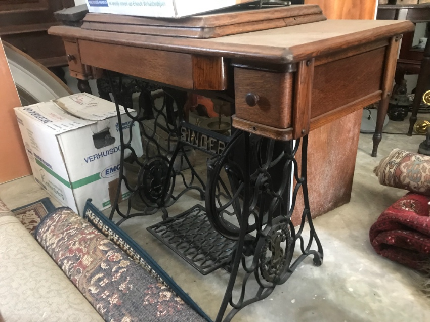 Two fantastic antique Singer sewing machines