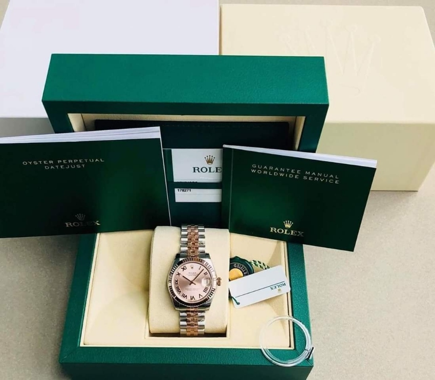 Brand new Rolex Datejust (178271) 31 mm  8/2018