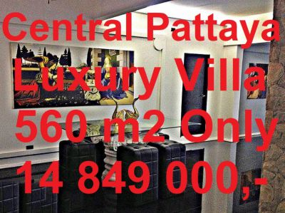 560 m2 Central Pattaya Luxury Villa Swimming pool FINANCING