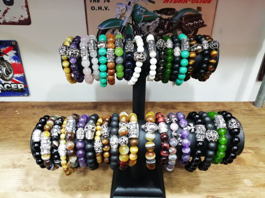 Unique, Custom Silver beads bracelets with wide range of stones